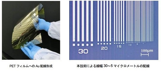 日本エレクトロプレイティング・エンジニヤース「配線形成例」