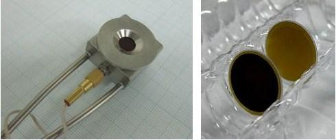 図1:水晶微小天秤(開発品)の外観