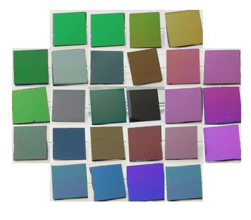 さまざまなDLC膜とその色