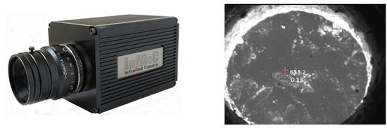 日本アビオニクス「プロトモデルの外観写真(左)と開発技術による溶融アルミ観察画像(右)」