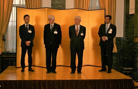 左から曽根光彰氏(代理)、今村氏、上島氏、葛村氏