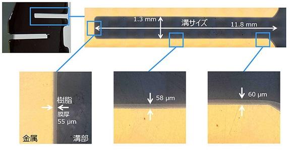 三菱マテリアル「複雑な形状の導体へコーティングした樹脂皮膜の厚み」: 複雑な形状の導体へコーティングした樹脂皮膜の厚み